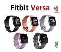 Fitbit Versa Smart Watch HR Black Gray Silver Charcoal Ruby Pink Peach Lavender