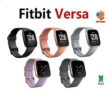Fitbit Versa Smart Watch HR Black Gray Silver Charcoal Ruby Pink Peach Lavender