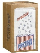 50 POPCORN BAGS - BUY 5 sets of 50 now and get 5 more sets of 50 FREE!