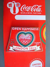 COCA COLA PIN BADGE - LONDON 2012 - DAY 9 OPEN HAPPINESS - MOC