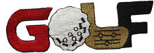 """#3424 4 1/2"""" Embroidery Iron On GOLF Applique Patch"""