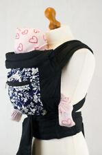 Mei Tai Baby Toddler Transporteur Sling avec capuche et poche-Bleu & Blanc Flora...