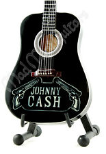 Miniature Guitar JOHNNY CASH with free stand. Man in Black acoustic