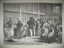 PARIS ST LAZARE LES COMMUNARDES RUINES RUE DE LILLE ET LA BASTILLE GRAVURES 1871