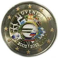 2 euro Slovenia 2012 UME decennale unione monetaria colorata