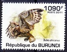 Spotted Eagle-Owl, Birds of Prey, Burundi 2011 MNH