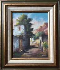 Original Oil Painting On Canvas By Mexican Artist Manuel Reina Signed & Framed