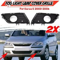 2X Car Front Fog Light Grille Fog Lamp Cover Front Bumper Grille Grill for VauO9