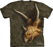 The Mountain 100% Cotton Kid's T-Shirt - Triceratops Face XL NWT