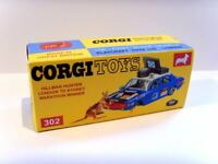 CORGI TOYS No. 302 Superb custom display/ repro box - HILLMAN HUNTER RALLY