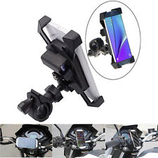 "Motorcycle Bike Handlebar Mount 3.5-7"" Mobile Phone GPS Holder with USB Charger"
