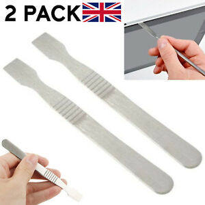 2 X METAL PRY SPUDGER TOOL FOR APPLE IPHONE MOBILE PHONES TABLET LAPTOP