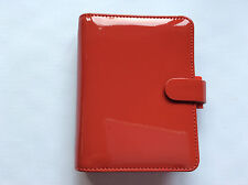 Filofax Pocket Patent red