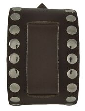"Nemesis BSM Brown XL Studded Leather Watch Cuff Band 24mm 2.25"" x 10.5"""