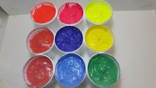 Plastisol Ink.Flourescent Yellow,Red and Magenta.1 Litre