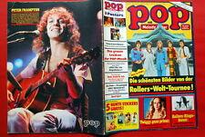 PETER FRAMPTON ON BACK COVER SMOKIE POSTER 1977 RARE GERMAN MAGAZINE