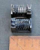 2 x Numerierwerk Bleisatz Buchdruck Nummerierwerk Numerierwerke Satz Typographie