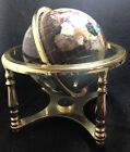 Lovley Brass Frame -Semi Precious Gemstone World - Earth Globe