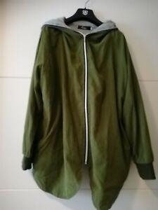 Oversize Jacke olivegrün Größe M
