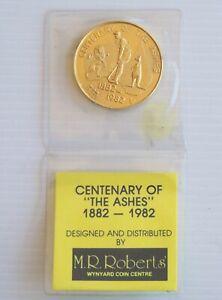 OLD 1982 CENTENARY OF THE ASHES AUSTRALIA CRICKET SOUVENIR WYNYARD COIN CENTRE