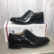 Charles Tyrwhitt Mens 9.5 Goodyear Welted Cap Toe Brogues Black Oxfords Shoes
