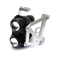 Motorbike Headlight Projector Set - 48-49mm Streetfighter Dual Stacked Projector