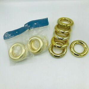 """10 Wooden Rings Kirsch 5461B-63 4"""" Metal Rings Fits 1 3/8"""" Diameter Pole Swag"""