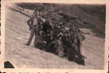 FOTO GRUPPO ALPINISTI ESCURSIONISTI IN MONTAGNA - ALPI ? DOLOMITI ? C9-1388