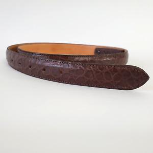 James Reid Genuine Alligator Belt  Brown Size 45 Interchangeable