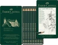 Faber-Castell 9000 Art Set Graphite Pencils in Tin (12pk)