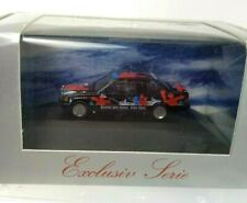 Herpa Mercedes 190E Black Red Sixt Art Car 1:87 Ho Scale Exclusiv Serie 180856