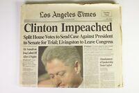 Newspaper - Clinton Impeached - Los Angeles Times - Dec. 20, 1998