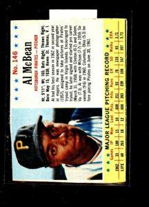 1963 POST  #146 AL MCBEAN PIRATES VGEX E02563