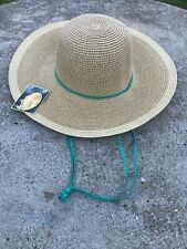 New Midwest Ladies UPF 30+ Outdoor Straw Hat Garden Hand Band & Draw String