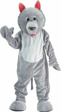 Morris Costumes Adult Unisex Polyester Wolf Mascot Costume Grey One Size. UP301