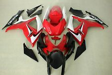 Fairing Kits fit for Suzuki gsxr600/750 06-07 2006 2007 red white and black ABS