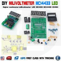 DIY Digital multimeter-millivoltmeter LED MC1403 MC14433 CD4511 KIT