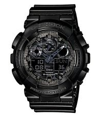 Casio G Shock *GA100CF-1A Camo Face XL Anadigi Semigloss Black COD PayPal
