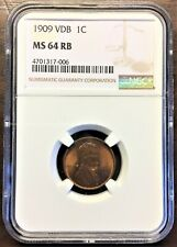 1909 VDB MS 64 RB - Professionally Certified by NGC - PS120