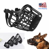 Soft Large Pet Dog Basket Muzzle Mouth Cover Mesh Cage No Barking Biting Chewing