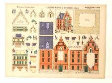 Imagerie D'Epinal No849 Ancienne Maison a Ensisheim,Moyennes Constructions model