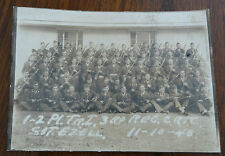1945 WWII US Army 1-2 Pl. T.R1, 3rd RP REC CRTC Sgt. Ezell Unit Photo 11-10-45
