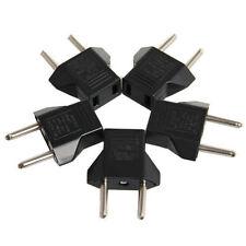 Lot of 5 US USA to EU Euro Europe AC Power Wall Plug Converter Travel Adapter