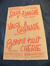 Partition Soleil d'Espagne Valzer per Grenade Buona notte Caro Scarlatti Domino