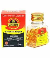Cod Liver Oil 500 capsules by Seven Seas, Vitamin A & D with Long Expiry New