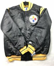 "New Pittsburgh Steelers NFL Starter ""The Enforcer"" Premium Jacket Men's Medium M"