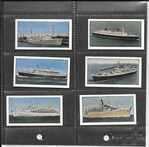 BISHOP'S STORTFORD DAIRY - PASSENGER LINERS - 1965 - 6 CARDS