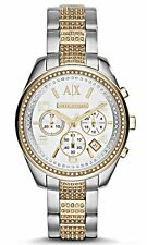 Armani Exchange A|X Women's Sarena Chrono Silver & Gold Tone Watch AX5518