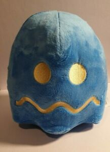 Pac-Man Vulnerable Ghost Blue Bandi Namco Plush Toy Preowned as new condition.
