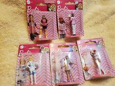 Mattel Barbie Minis Lot Of 5, Astronaut, Baseball,popstar, Soccer & Chef Barbie